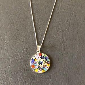 Jewelry - SS Morano glass Jewish star necklace